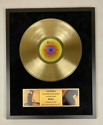 Ask Rufus 1977 - Rufus Vinyl Record Gold Metallized In Frame Display