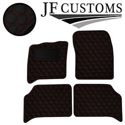 Red Hex Stitch Vinyl 4x Tailored Floor Carpet For Bentley Turbo R 85-95 Jf2