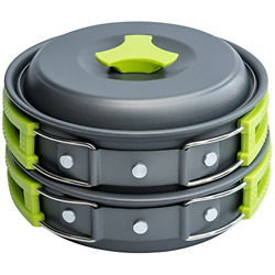 1 Liter Camping Cookware Mess Kit Backpacking Gear amp; Hiking Outdoors Bug Out Bag $26.87
