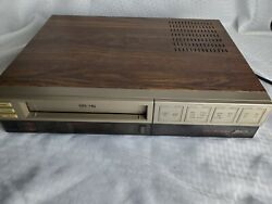Rare Zenith Vre155 Vhs Hq Player Vcr Video Recorder Wood Grain Tested And Working