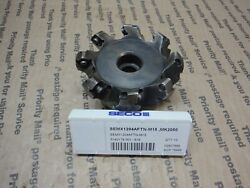 Seco 45° 3.15 Facemill Cutter 1 Arbor R220.53-03.00-12-8a Stk22 With Inserts