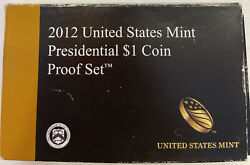 2012-s Us Mint Proof Presidential 1 Coin Set Ogp W/box/coa As