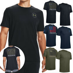 Under Armour Menand039s Ua Freedom Banner T-shirt Graphic Short Sleeve Tee 1352147