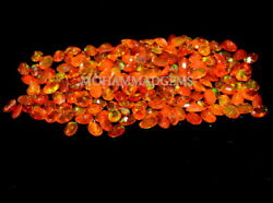 Natural Ethiopian 4x6 Mm Oval Faceted Orange Opal Aaa Fire Opal Loose Gemstone