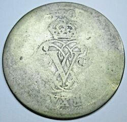 1708 Spanish Silver 2 Reales Genuine Antique Colonial 1700s Two Bits Pirate Coin
