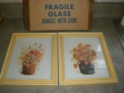 New Vintage Homco Home Interior Set Of 2 Pictures Autumn Bouquet 9 X 11