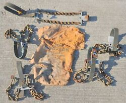 Antique Vintage Campbell Chain Co Emergency Early Automobile Wheel Tire Chains