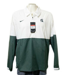 25off Msrp Nike Mens Michigan State Lightweight Coach's Jacket White Green L