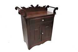 Antique American Wooden Washstand Cabinet