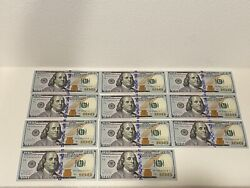Lot Of 11 Consecutive 2017a Us 100 One Hundred Dollar Uncirculated Starnotes
