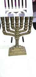 Vintage Of Jewish Candle Holders Candlestick Religions Hanukkah 7 Branch Candle