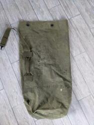Vintage 1944 Duffle Bag Us Army Green Canvas 34 Military Stenciled Wwii