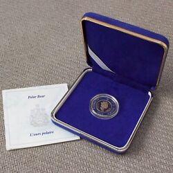 Proof 1996 Canadian Gold And Silver 2 Elizabeth Ii Polar Bear Coin 5000 Minted
