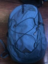 Blue NorthFace Backpack Men Fabric Lining W Laptop Protection amp; Water Holder $56.00