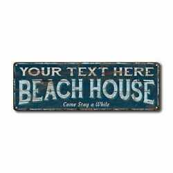Personalized Beach House Metal Sign Cabin Lake House 106180026001 $27.95
