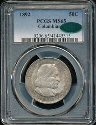 1892 Columbian Exposition Commemorative Half Dollar Pcgs Ms 65 Cac Approved