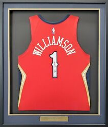 Pelicans Zion Williamson Autographed Framed Red Nike Jersey Fanatics 191194