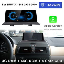 8-core Android Car Gps Stereo Radio Navigation Wireless Carplay For Bmw X3 E83