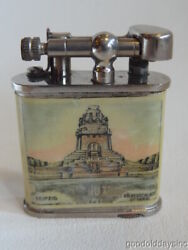 Antique Memento Of Leipzig Germany - Lift Arm Cigarette Lighter - Dunhill Type