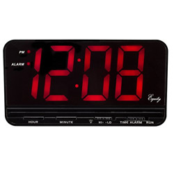 Equity by La Crosse 30401 3quot; Red LED Electric Alarm Clock X Large