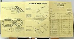 Rare 1966 Marx Brothers Cannon Shot Jump Racing Game Instructions + Order Form