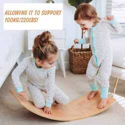 Child Balance Toy Wooden Seesaw Indoor Curved Board Baby Double Wooden Outdoor S