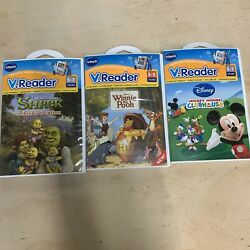 Vtech Lot Shrekand039s Vacation Mickey Mouse Winnie Pointeractive V.reader Learning