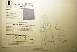 Disney Beauty Beast Original Production Drawing Signed Paige Oand039hara Voice Artist