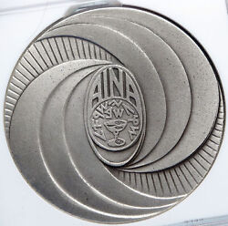 1973 Israel Aina Numismatic Tours Coin Voyage Vintage Silver Medal Ngc I89342