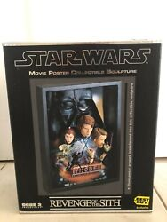 Code 3 Star Wars Revenge Of The Sith Movie Poster Collectible Sculpture