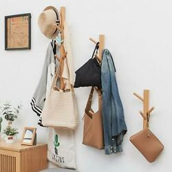 Bamboo Creative Wall Coat Rack 3/8/11 Hooks North Europe Clothes Hanger Solid W