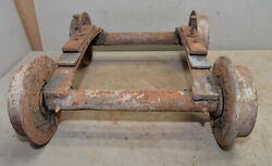 Antique Mining Ore Cart Steel Wheels Frame Springs Collectible Railroad Early