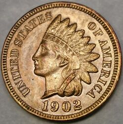 1902/1 Indian Head Penny Repunch Date Scarce Snow 14 Rpd/ddr Magnificent Beauty