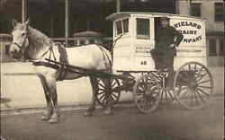 Chicago Horse Drawn Wieland Dairy Co Wagon C1915 Real Photo Postcard