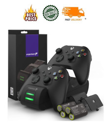 Fosmon For Xbox Series X S 2020 Controller Quick Charging Dock Stand Station