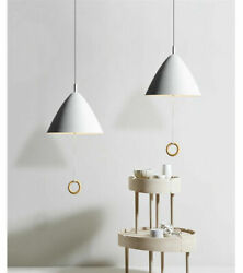 Modern Pull Cord Switch Chandelier Craftsman Hanging Pendant Light White Fxture