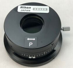 Nikon Microscope V-pp Dic Rotatable Polarizer For Eclipse And I Series 103