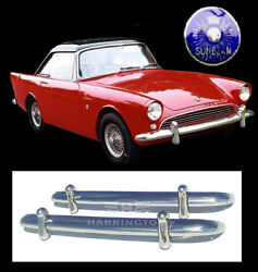 Sunbeam Alpine S1 S2 S3 And Sunbeam Tiger Stainless Steel Bumpers