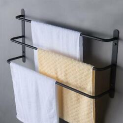 Us Three Stagger Layers Towel Rack Stainless Steel Bars Bathroom Accessories Set