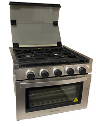 17 Greystone Range Oven Rv17 Stove Lp Gas Ignition Glass Cover Stainless Steel