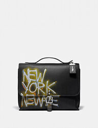 COACH x Jean Michel Basquiat rogue messenger Leather Crossbody NWT 7048 $645.00