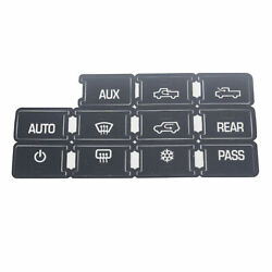 Ac Dash Button Repair Kit Decal Vinyl Sticker Replacement For Gm Vehicles 07-14