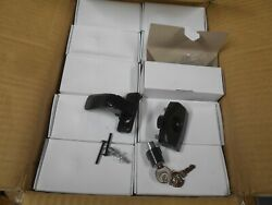 Case Of 60 Inside Black Storm And Screen Door Latch Handle With Lock Ch701 Key