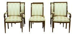 L32644ec Set Of 6 French Louis Xvi Style Upholstered Dining Room Chairs