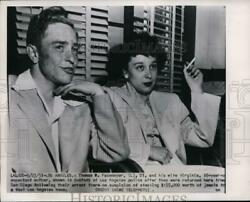1951 Press Photo Thomas R. Fasenmyer And Wife Virginia In L.a. Police Custody