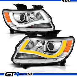 Switchback Led Bar Chrome Projector Headlight For 2015-2018 Chevrolet Colorado