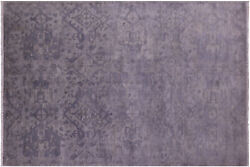 Overdyed Full Pile Wool Hand Knotted Rug 6' 1 X 8' 10 - Q6748