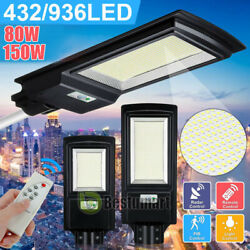 Commercial 990000lm Street Light Ip67 Outdoor Integrated Road Lamp Remote +pole