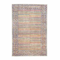 6and0392x9and039 Silk-wool Saroogh With Small Boteh Design Hand Knotted Rug R62320