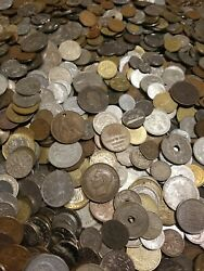 50 World Foreign Coins- Fun To Search Bulk Lot - Great For Kids